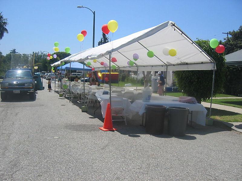 Block party tent
